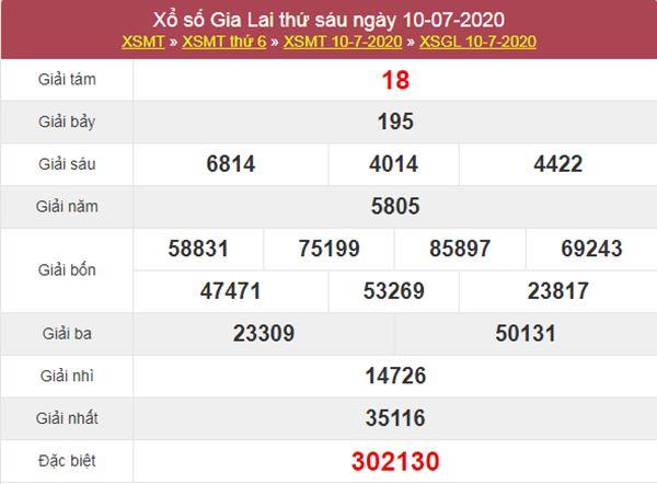 Thống kê XSGL 17/7/2020 chốt KQXS Gia Lai thứ 6